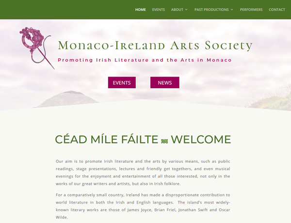Monaco Ireland Arts Society